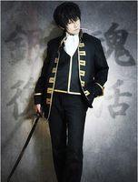 Wholesale Shinsengumi Cosplay - Free Shipping Gintama Shinsengumi équipe Okita Sougo Argent âme Cosplay Costume livraison Gratuite Nouvelle