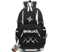 Wholesale Music School Bag - Metallica backpack James Hetfield school bag Thrash Metal rock daypack Music band schoolbag Outdoor rucksack Sport day pack