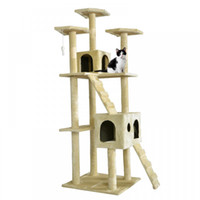 Wholesale brown tree - All Color Cat Tree Scratcher Play House Condo Furniture Bed Post Pet House