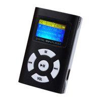 ingrosso lettore mp3 di 1gb-All'ingrosso- USB Mini Digital MP3 Player musicale Schermo LCD Supporto metallico 32G MicroSD Card A