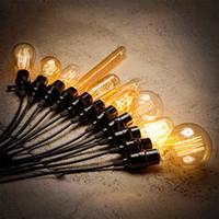 Wholesale Glass Globe Bulb Pendant - Vintage Loft Retro E27 Spiral Incandescent Light Novelty Fixture Glass Edison Bulbs 40W 110-240V Pendant Lamps Lighting