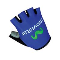 Wholesale Gloves Movistar - Cycling Gloves Bicycle Bike Sport Gloves GEL pad movistar Guantes Ciclismo Half Finger Mitts Verade Luvas De Gants Velo ele033
