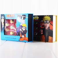 Wholesale Naruto Akatsuki Figures - 10pcs lot Anime Naruto Akatsuki Member Cosplay Finger Rings Sasori Itachi Hidan Deidara Costume Accessory Figure Toys