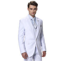 Wholesale made order suit - Wholesale- Man temperament white suit, suits formal occasions. Custom make to order, (the coat + pants + vest)