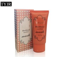 Wholesale bamboo whitening skin care resale online - 50ml TYJR bamboo char Black Mask Deep Cleansing Peel Off Face Skin Care Oil Control Pore Cleaner Mask Remover Blackhead Suction Facial Masks