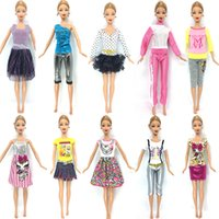 Wholesale Beautiful Baby Toys - NK 10 Set 2016 Newest Princess Doll Outfit Beautiful Party Clothes Top Fashion Dress For Barbie Doll Best Girls' Gift Baby Toys
