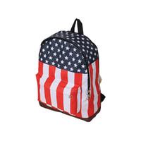 Wholesale wholesale cell phones usa - Wholesale- Free Shippig 2015 Good School Bag Canvas US UK England USA Flag Punk BackPack Shoulder Bag Drop shipping