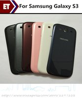 Wholesale Door Cases S3 - 6 colors For Samsung Galaxy S3 i9300 i9305 I747 Case High Quality Housing Battery Door Back Cover Replacement parts!!!