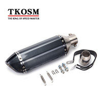Wholesale Honda R6 Motorcycle - TKOSM Universal 36-51mm Motorcycle Exhaust Modified Scooter Exhaust Akrapovic Muffle GY6 for HONDA R1 R3 R6 FZ6 ATV Dirt Bike Exhaust
