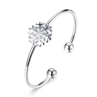 Wholesale Owl Silver Cuff Bracelet - 2017 New Designs Snow Owl Leaf 925 Silver Plated Bracelet Bangle Cuff with AAA Cubic Zirconia Women's Girl's Fashion Jewelry