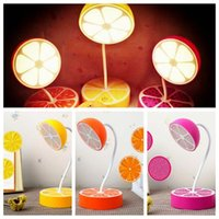 Wholesale Lemon Decorations - USB Charging Table Decoration Fresh Fruit Desk Lamp Night Flexible Dimmable Eye Protection Lemon Pitaya Orange Shape Light CCA8113 30pcs