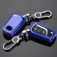 Wholesale car cover camry - Carbon Fiber Car Key Cover for TOYOTA toyota reiz carola camry rav4 crown carola