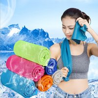 Cool Towel Summer Sports Ice Cold Towel Running Work Out Gym Sports Serviettes Rapide à sec Cooling Sports Bath Nylon Accessoires