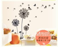 original wall decals - vc nuts quot Butterfly Flying In Dandelion quot bedroom stickersPoastoral Style Wall Stickers Original Design PVC Wall Decals ZY51