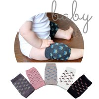 Wholesale Elbow Knee Pads Baby - 2017 Babies Soft Anti-slip Elbow Cushion Crawling Knee Pad Infant Toddler Baby Safe Baby Adjustable Leggings bebe socks