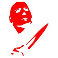 janelas de filmes venda por atacado-Clássico Filme de Terror Personagens Assassino Michael Myers Causa Osso Do Cabelo Então Whiz Etiqueta Do Carro para a Janela Bumper Vinyl Decal