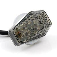 Wholesale Motorcycle Flush - Motorcycles 15 Amber LED Flush Mount Smoke Turn Signal Indicator Blinker Light Universal