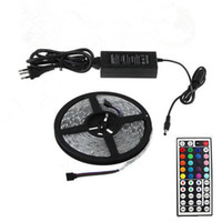 Wholesale Ip65 Rgb 44 - LED Strips with 44 Keys Controller+ Power Supply IP65 Waterproof 300 LED 5M SMD5050 RGB LED Strip Light