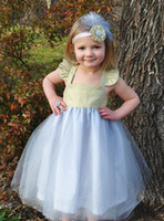 Wholesale Tea Balls For Sale - Hot Sale Flower Girls' Dresses Square-Neck Satin and Tulle Ball Gown Tea-Length A-line Flower Gageant Girl's Gowns For Wedding or Pageant