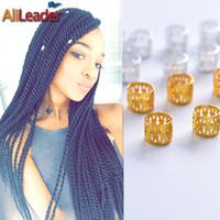 Wholesale Locking Cuffs - Wholesale-Free Shipping 100Pcs Lot Dreadlock Beads Adjustable Cuff Ring 8MM Hole Aluminum Metal Tube Lock For Dreadlocks + 5Pcs Free Beads
