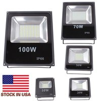 Wholesale Led Light Flood - 2016 Hot Sales 10W 20W 30W 50W 100W Outdoor Waterproof Led Floodlights Warm Cool White IP66 Led Flood Lights 85-265V Stock In US