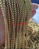 Wholesale Square Gold Tone Beads - Fashion Jewelry Lot 5meter Gold tone Stainless Steel Strong 3mm Square Box Link Rolo Chain Jewelry Finding   Marking Chain DIY