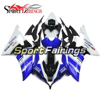 Blue White Carénages complets pour Yamaha YZF600 R6 08 - 15 Année 2008 2009 2010 2011 2015 Sportbike ABS Motorcycle Fairing Kit