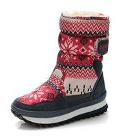 Wholesale Girls Red Waterproof Snow Boot - Boots Women Waterproof Winter Shoes Girl Snow Shoes Plush Warm Fur Slip Soles Style Fashion Shoes Item No. XDX-013