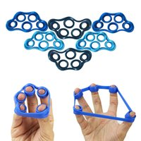 Wholesale Hand Grips Exercises - Hand Resistance Band Yoga Exercisers Finger Stretcher Exerciser Grip Strength Wrist Exercise Finger Trainer 3 Color