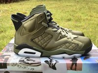 Venda por atacado Pinnacle Promo Air Retro 6 jaqueta de voo Saturday Night Live Army Green Men Basket Shoes Sports Sneaker VI AH4614-303 US8-13