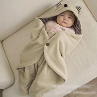 Wholesale New Stroller Sleeping Bag - 2017 NEW Baby Blanket Newborn Swaddle Baby Quilt Toddler Newborn Blanket Swaddle Baby Sleeping Bag Stroller Wrap