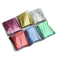 Wholesale Cello Wrap - 800Pcs Metallic Twist Tie Wire for Pack Candy Lollipop Cake Cello Bag Gift Wrap String