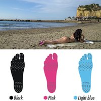 Wholesale Motorbike Pads - Newest Fashion Creative Summer Holiday Men Women Beach Nakefit Insole Waterproof Anti-skid Anti-Cutting Sandals Foot Pad