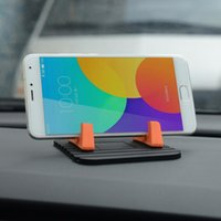 Wholesale Support Iphone Gps - NEW Car Phone Holder Soft Silicone Mobile Phone Mount Stands Bracket Support Gps For iPhone 5 6 Plus for Samsung Phone Holder