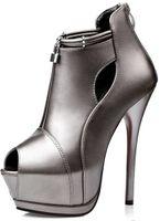 Wholesale Dress Sellers - wholesaler free shipping factory price hot seller peep toe platform high heel women lady dress shoe065