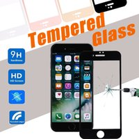 Wholesale Print Screen Protector - Silk Printing Screen Full Cover Tempered Glass Screen Protector Protective Film Guard Anti Explosion 9H Hardness For iPhone 8 7 Plus 6 6S