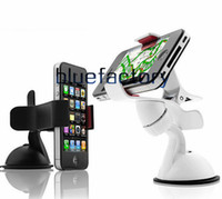 Wholesale Car Mount Rotating Clip - Windshield Car Mount Rotating Suction Cup Stand Holder Bracket Phone Holder Clip for iphone 7 Samsung S7 LG Cell phone Universal