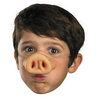 Wholesale Pig Costume Nose - Wholesale-Halloween Pig Nose Fancy Dress up Costume Props Fun Party Favor Siliconematerial Party mask Supplies Decoration