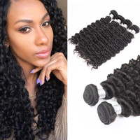 Wholesale Tangle Free Curly Hair Weave - Sexy Formula Malaysian Curly Hair Free Shipping Malaysian Virgin Hair 4pcs lot Uglam Best Weave Deep Wave Extension No Tangle No Shedding