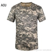 Wholesale Marine Breathable - Mens Summer Quick Dry O Neck T shirt Cool-Feeling Tops Marine Corps USMC Paintball SWAT T-shirt Tactical Style Tees for Outdoor Sport Cyclin