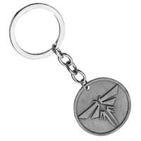 Wholesale Antique Ancient Key - Wholesale Game Jewelry The Last Of Us Keychain Vintage Ancient Silver Pendant Key Chain Keyrings For Fan's Gifts 24pcs lot