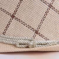 Wholesale Grass Shades - Summer popular models men and women big lattice ropes hat British jazz shade grass hat