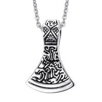Wholesale Odin Pendant - Vintage Norse Viking Scandinavian Necklace Pendant Thor Odin Loki Asgard Stainless Steel 24inch Chain PN-492