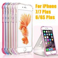 iphone air 5.5 al por mayor-Estuche a prueba de golpes del amortiguador de aire delgada delgada piel de la cubierta protectora de TPU suave para Apple iPhone 7 6 6 S Plus 4.7 5.5 pulgadas envío gratis