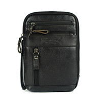 Wholesale Ipad Mini Small - Wholesale-Genuine leather small messenger bags for men crossbody shoulder bag ipad mini handbags cowhide chest packs man shoulder bag