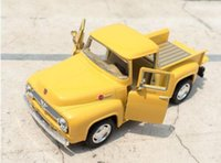 Brand New 1/38 Scale Car Toys 1956 Ford F100 Pickup Diecast Metal Pull Back Car Model Toy para Gift Kids Collection FreeShipping