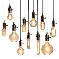 Wholesale Lustre Restaurant - Vintage Pendant Lights Luminaire Lamp Loft E27 Hanglamp Lustre Lamparas Colgantes For Restaurant Kitchen Home Lighting Abajur