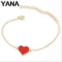 Wholesale Good Quality Factory Price China - YANA Jewelry Sale Good Quality 3 Colors Heart Bracelet For Woman 2015 New bracelets & bangles factory Price HOT B64