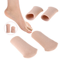 Wholesale Callus Gel - 7CM Fabric+Gel Tube Cushion Corns and Calluses,Toe Protector,Hallux Valgus Orthopedics,Bunion Guard for Feet Care insoles