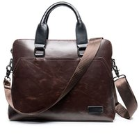 Business Men Briefcase Bag Vintage Men Shoulder Bags Moda Men Messenger Bags Casual A4 Documento Holder Handbags